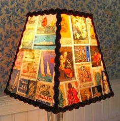 Handmade Unique: Unique Decor - Vintage Stamp Lampshade by Sassyshades