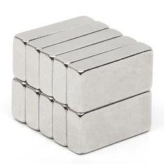 10pcs Rare Earth Neodymium Permanent Magnet 19.6*10*4.6mm Block N52 Rectangular Magnet Very Powerful Acoustic Field Speaker