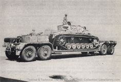 "alphasalmon4l: ""retrowar: ""Tank trailer "" Panzer III J "" Nice photo! I've never seen this particular vehicle."