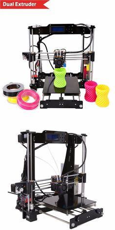 Venta caliente doble extrusora reprap prusa i3 3d diy impresora Kit Upgrad P802M P802NA Seleccionable Filamento Tarjeta SD LCD Envío gratis en 3D Printers de Informática y Oficina en AliExpress.com | Alibaba Group