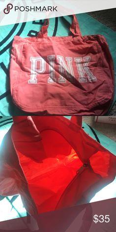 Pink shoulder bag Shoulder bag w zipper n different compartments PINK Victoria's Secret Bags Shoulder Bags
