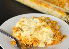 Funeral Potatoes - a delicious, cheesy potato dish - works well in crock pot, too!