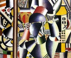 Acrobats in the Circus  by Fernand Léger, 1918, style and or genre: Cubism