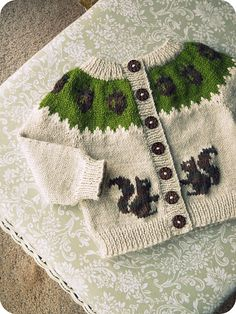 Ravelry: TraceyNicole's squirrely sweater