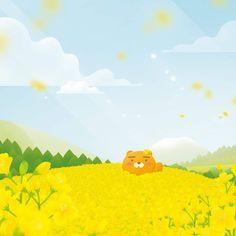 People Illustration, Cute Illustration, Illustrations, Bear Wallpaper, Pastel Wallpaper, Kakao Ryan, Kakao Friends, Kawaii Stickers, Kawaii Art