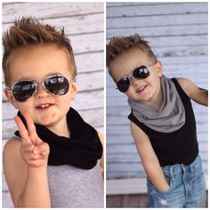Set of 2 --- HIPSTER Toddler Scarf Little Boy Baby Infinity Jersey Knit GRAY BLACK Gift Rich Girl Rags Co Kid Unisex Girl Hipster Cute Kid on Etsy, $22.00