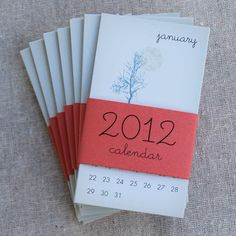 2012 Mini Calendar (Set of Eight) $24