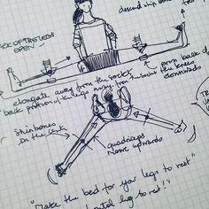 #yogasketches #yogadrawing #upavisthakonasana #doodling for a new project! #fnyogi