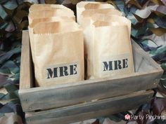 Mash Bash, Mash tv show, Mash television show, Mash theme party, army party, military party ideas, M*A*S*H treat bags