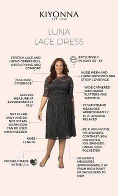 dbd7f3b44ae Real Curves for Luna Lace Dress Dress Ideas
