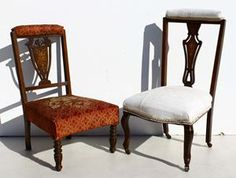 2 x Vintage Inlaid Chairs  one with turned legs  size:  one with queen anne legs  size:  @R3999 for both  Call 0767064700