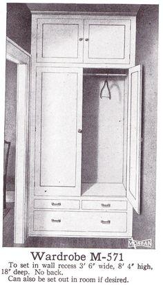 Built-in Wardrobe from a Morgan Millwork catalog (1921)