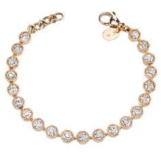Old European cut Diamond Bracelet    From a unique collection of vintage more bracelets at https://www.1stdibs.com/jewelry/bracelets/more-bracelets/