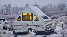 I am excited to share my first experience camping in the snow in the Aliner! Granted, it was super mild snow, but still super cold for my warm blood! A Frame Trailer, Pop Up Camper Trailer, Camper Trailers, Aliner Campers, Rv Campers, Happy Campers, Camper Life, Rv Life, Camper Van
