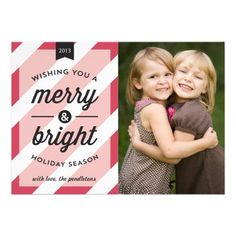 Vintage Merry  Bright Holiday Photo Card #holiday cards #Christmas cards #photo cards  Click on photo to purchase. Check out all current coupon offers and save! http://www.zazzle.com/coupons?rf=238785193994622463&tc=pin
