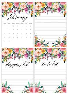 Free Printable 2016 Calendar With Bonus To Do List Shopping Note Pad Printables