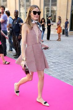 Olivia Palermo Nails French-Girl Style For The Summer