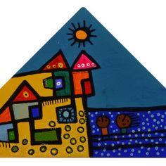 de la serie SALIENDO DE CASA-40cmx20cm-tecnica mixta sobre lienzo-T004 Arte Popular, Painting, Leaving Home, Paintings, Blue Prints, Houses, Drawings, Painting Art, Painted Canvas