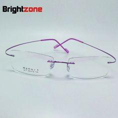 >> Click to Buy << 2017 New Memory Titanium Alloy Brand Glasses Frame Eyeglasses Men women Rimless Frame Myopia Prescription Glasses Oculos de grau #Affiliate
