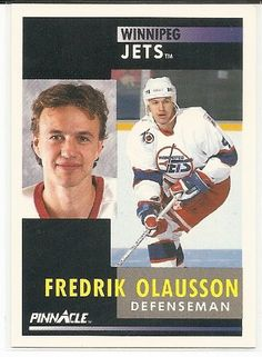 Fredrik Olausson 1991-92 Pinnacle Winnipeg Jets Card 74 *** Details can be found by clicking on the image.