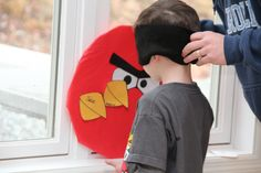 pin the beak on the angry bird  I like the eye covers