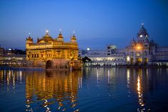 11791 - Photograph at corporatefineart.com Golden Temple as sun is going down...India...