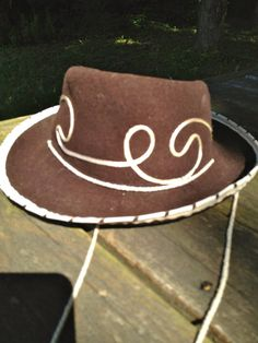 4f457cfb686 Vintage Child Cowboy Cowgirl Hat Woody Toy Story Style Hat Circa 1950 60   Merrimac Benay Albee Novelty Co Made in USA