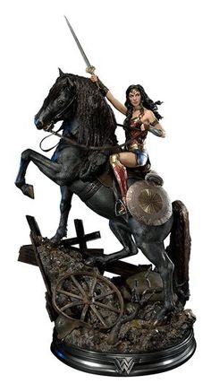DC Comics Wonder Woman on Horseback Statue by Prime 1 Studi Game Character Design, Comic Character, Anime Figures, Action Figures, Wonder Woman Art, 3d Fantasy, Dc Comics Characters, Marvel, Sideshow Collectibles