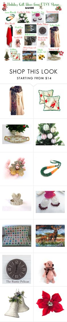 """""""Holiday Gift Guide: Etsy Shops"""" by belladonnasjoy ❤ liked on Polyvore featuring National Tree Company, Amara and vintage"""