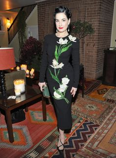 Dita Von Teese - WHAT: Dolce & Gabbana, Henri J. Sillam jewelry WHERE: At the Jo Malone London Girl dinner, Los Angeles WHEN: October 20, 2016