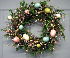 Easter Egg Boxwood Spring Wreath Easter by Designawreath