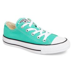 Converse Chuck Taylor All Star Sneakers- Unisex Sizing - Green - Size... (830 MXN) ❤ liked on Polyvore featuring shoes, sneakers, converse, converse trainers, converse footwear, unisex sneakers, unisex shoes and star sneakers