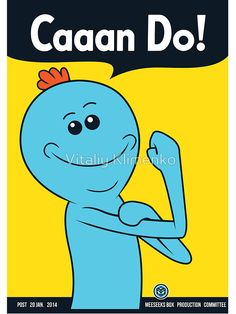 Meeseeks can do (sticker) by Vitaliy Klimenko
