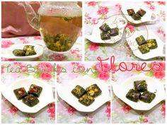 Tea Bricks with flowers