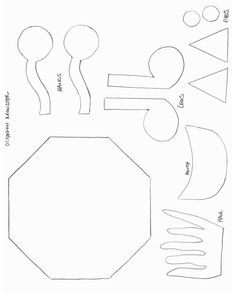 Felt faces pattern cutting free pattern and patterns shapes crafts print your octagon monster template at allkidsnetwork pronofoot35fo Choice Image