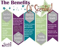 Benefits of joining my Scentsy team. Join today https://tracybelardo.scentsy.us/join