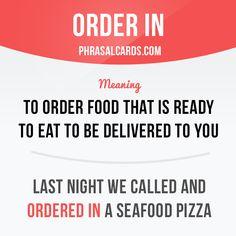 Order in