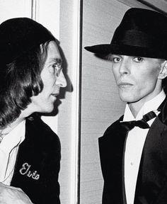 RON GALELLA, John Lennon and David Bowie, NY 1975