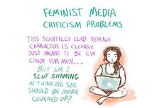 Alyssa Korea Illustrates The Feminist Media Criticism Conundrum In This Comic Over Analyzing, Human Dignity, Media Literacy, Gender Roles, That's What She Said, My Generation, How To Make Notes, Oprah Winfrey, Critical Thinking