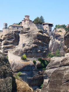 METEORA GREECE. The first monasteries were built with high craftmanship, in the 14th century.