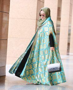 Abaya Style Islamic Fashion, Muslim Fashion, Modest Fashion, Asian Fashion, Fashion Dresses, Fashion Muslimah, Abaya Fashion, Modest Wear, Modest Outfits