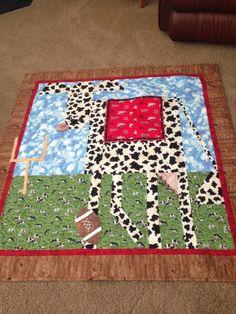 My grandsons Husker cow by Lorraine Allers. Pattern by Mary Lou Weidman & Melanie  McFarland