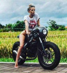 Red Thong...Black Bike ? Check.