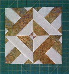 Three Dudes in Batiks. Instructions for a swap on the Quilting Board. Uses 5 strips alternating white and a batik