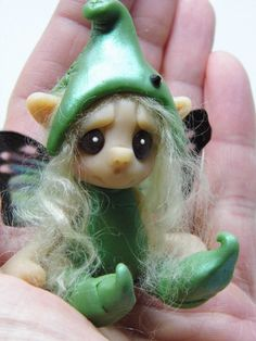 OOAK Handmade Polymer Clay Fairie Pixie by Woodlandkreatures