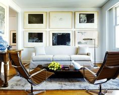 Leather and white walls (source: Metropolitan Home via luxe + lillies)