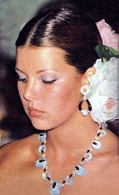A young Princess Caroline of Monaco