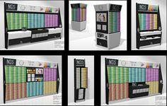 Expositores. Son muebles diseñados por los fabricantes de los productos donde incorporan sus propios elementos publicitarios.