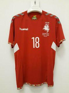 f78cab25704 Advertisement(eBay) Lithuania National team Modestas Vorobjovas match worn  jersey vs Azerbaijan