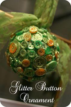 Glitter Button Ornament
